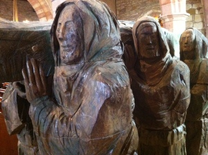 carrying St Cuthbert statue
