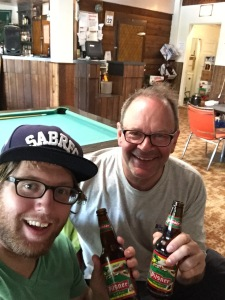 Hayden and Matthew selfie VM bar