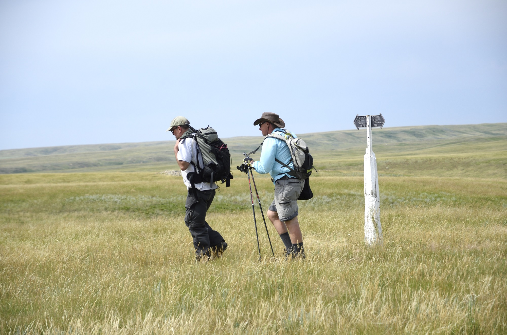 Matt and Rick by NWMP trail post Pinto Butte July 23