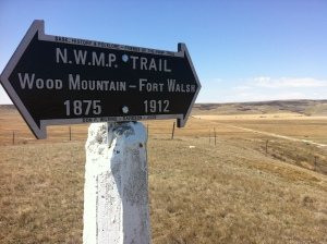 NWMP sign Chimney Coulee brighter