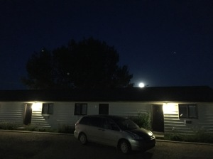 blue moon over the Riverside Motel