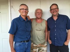 Max Mirau with Hugh and Matthew