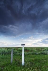 NWMP patrol trail marker. Val Marie, Saskatchewan. 49°15'43