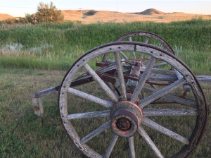 old cultivator and hills