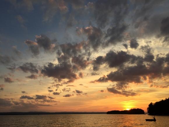 sunset at Round Lake Aug 2015