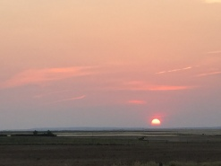 sunset over Cypress Hills