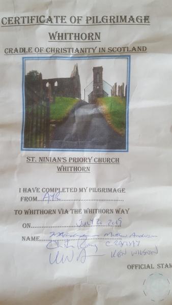 certificate of pilgrimage