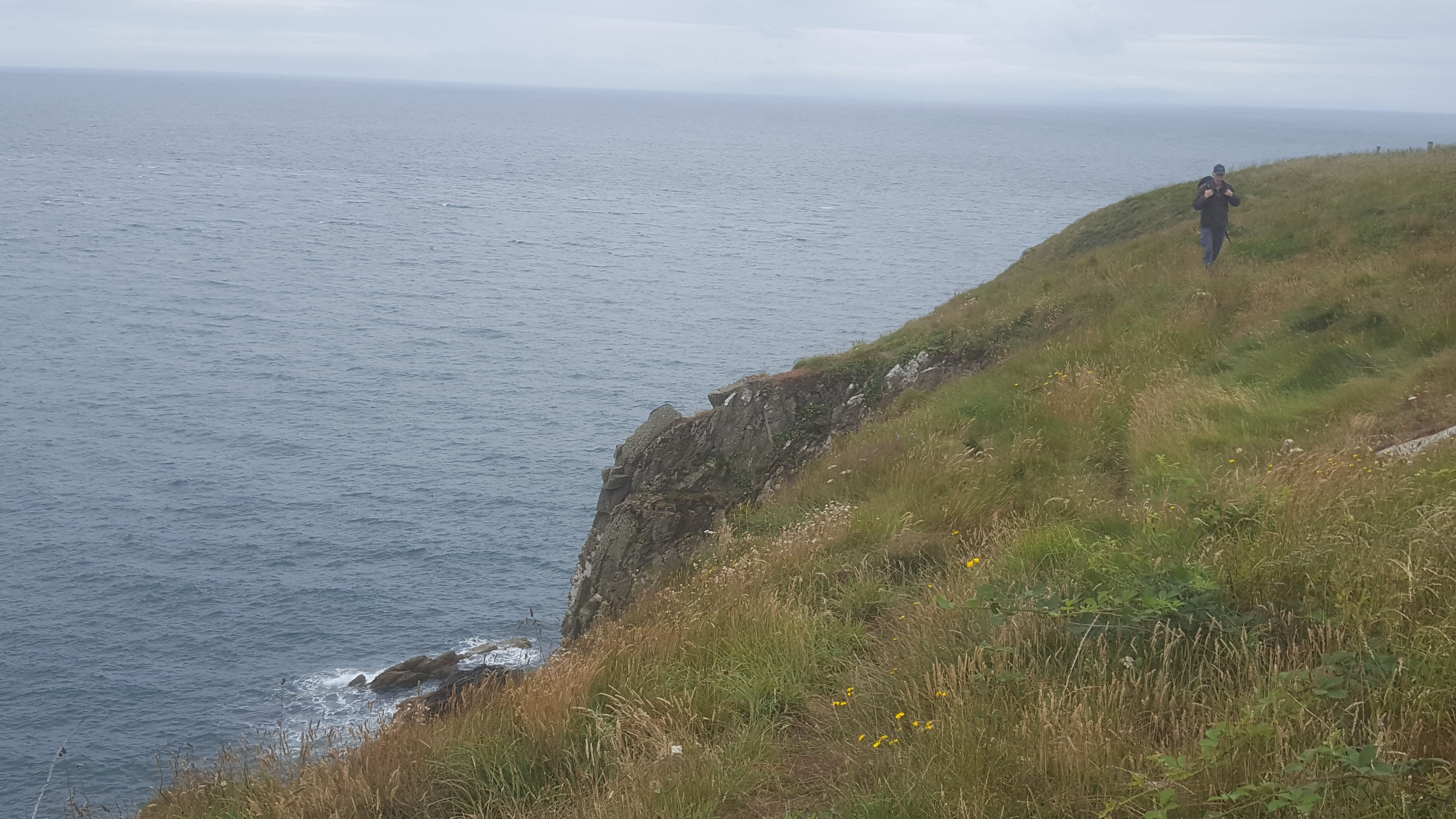 Chris on cliffs