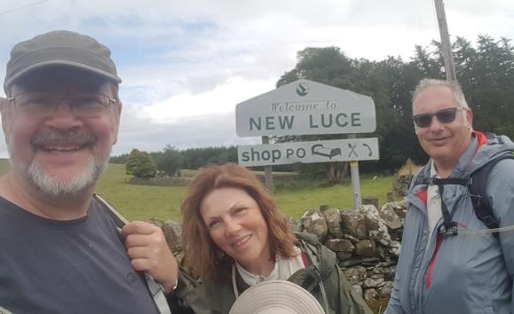 Christine Ken Matthew at New Luce sign