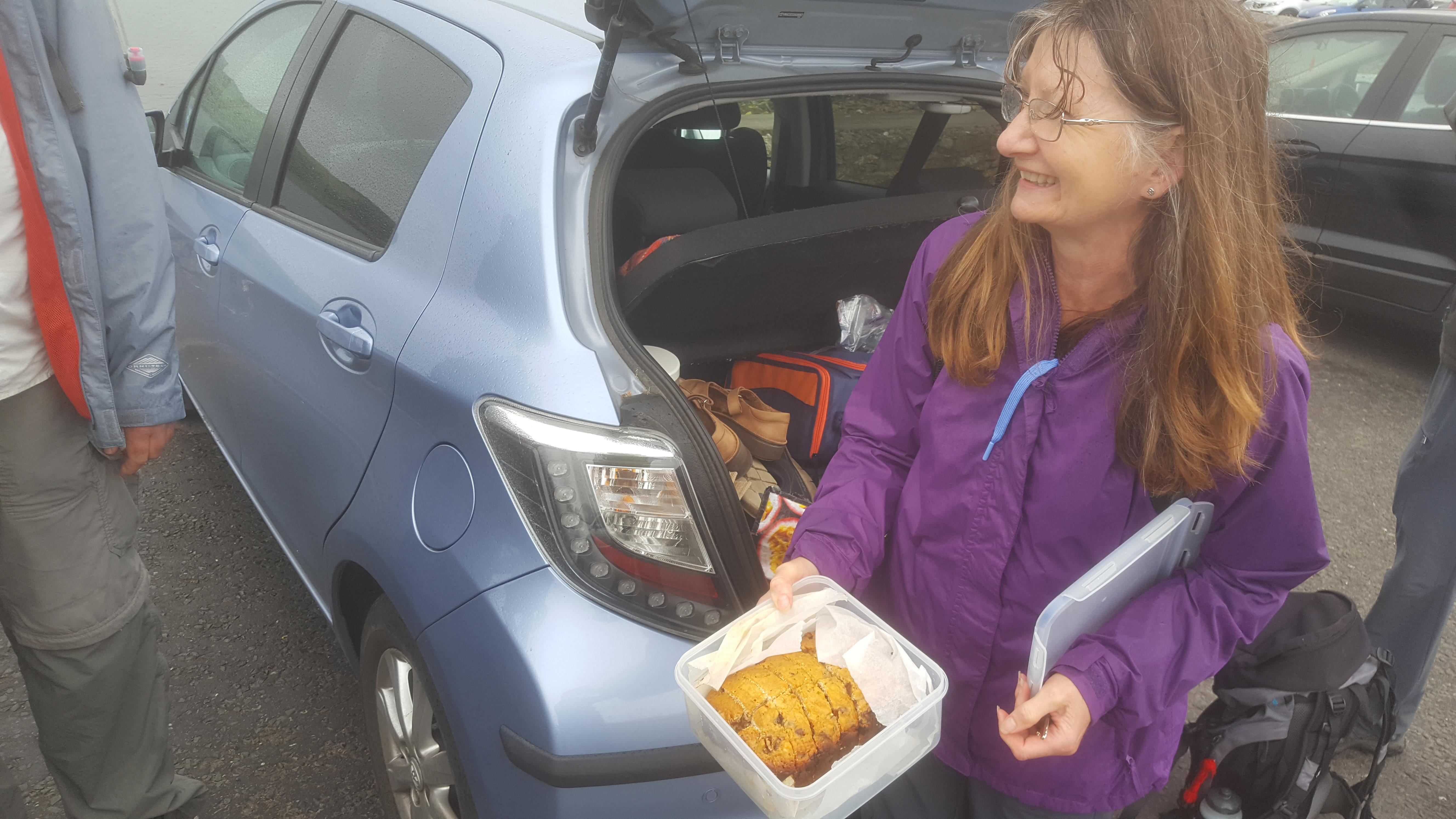 Clare brings cake