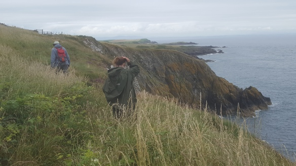 Ken and Christine on cliffs