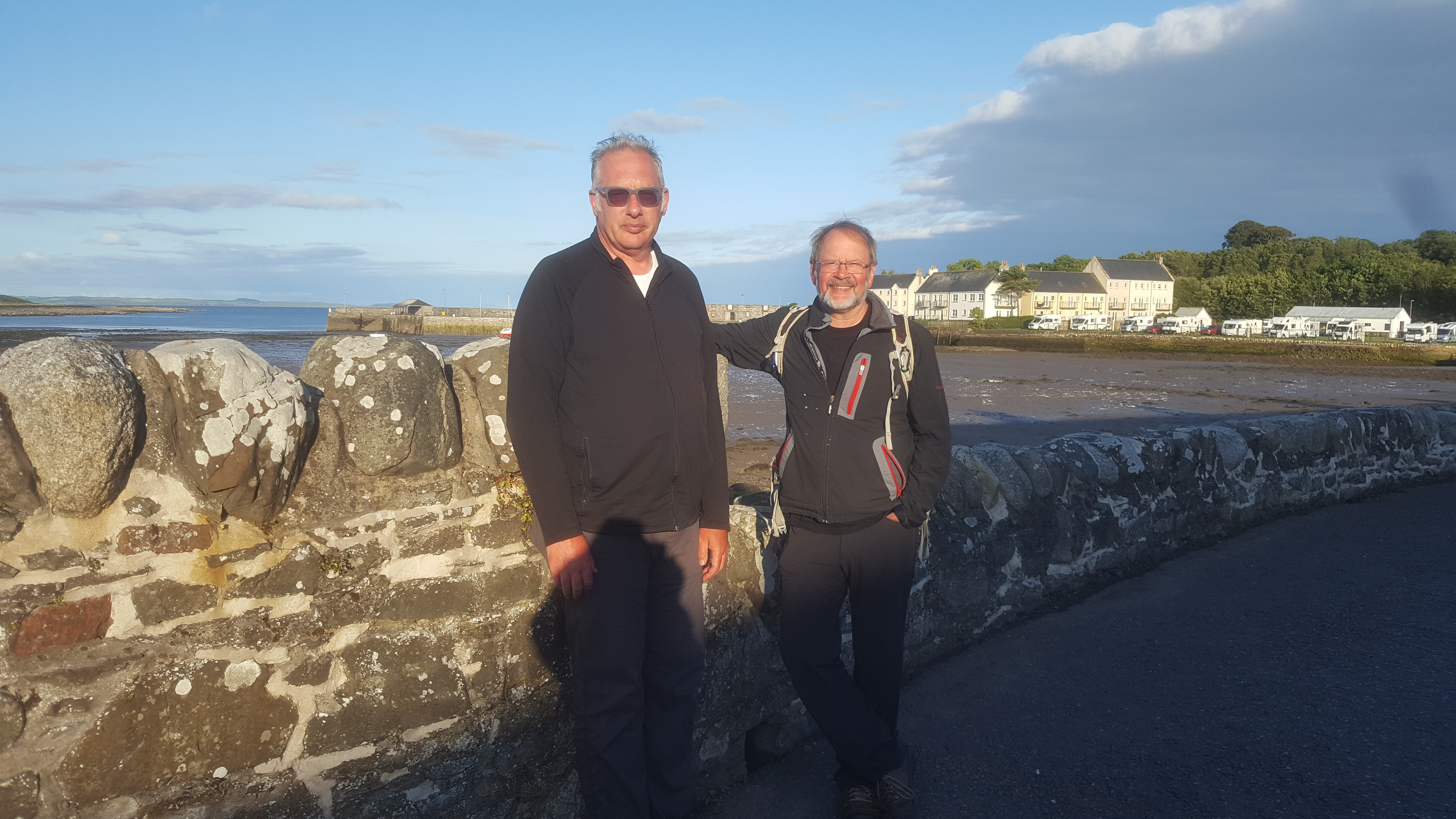 Ken and Matthew at harbour