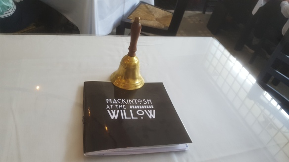 Mackintosh at the Willow menu