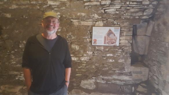 Matthew at St Ninian's Tomb