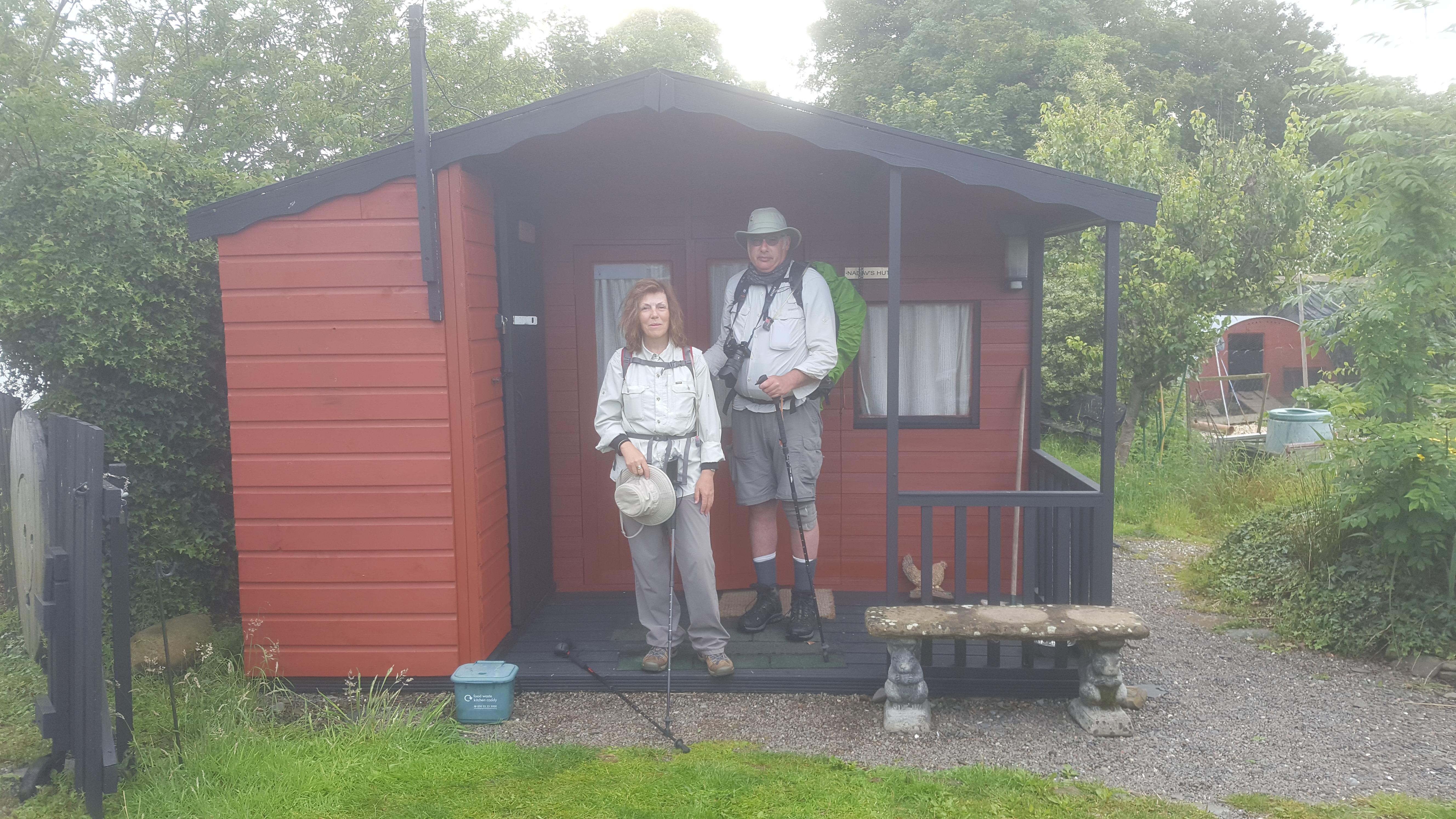 Nadav's Hut with Ken and Christine