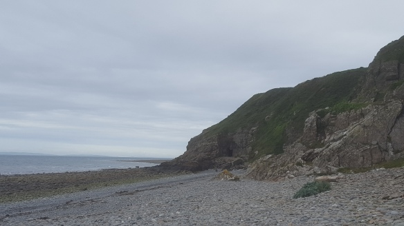 Ninian's Cave from the beach