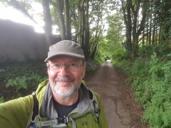 selfie in forest