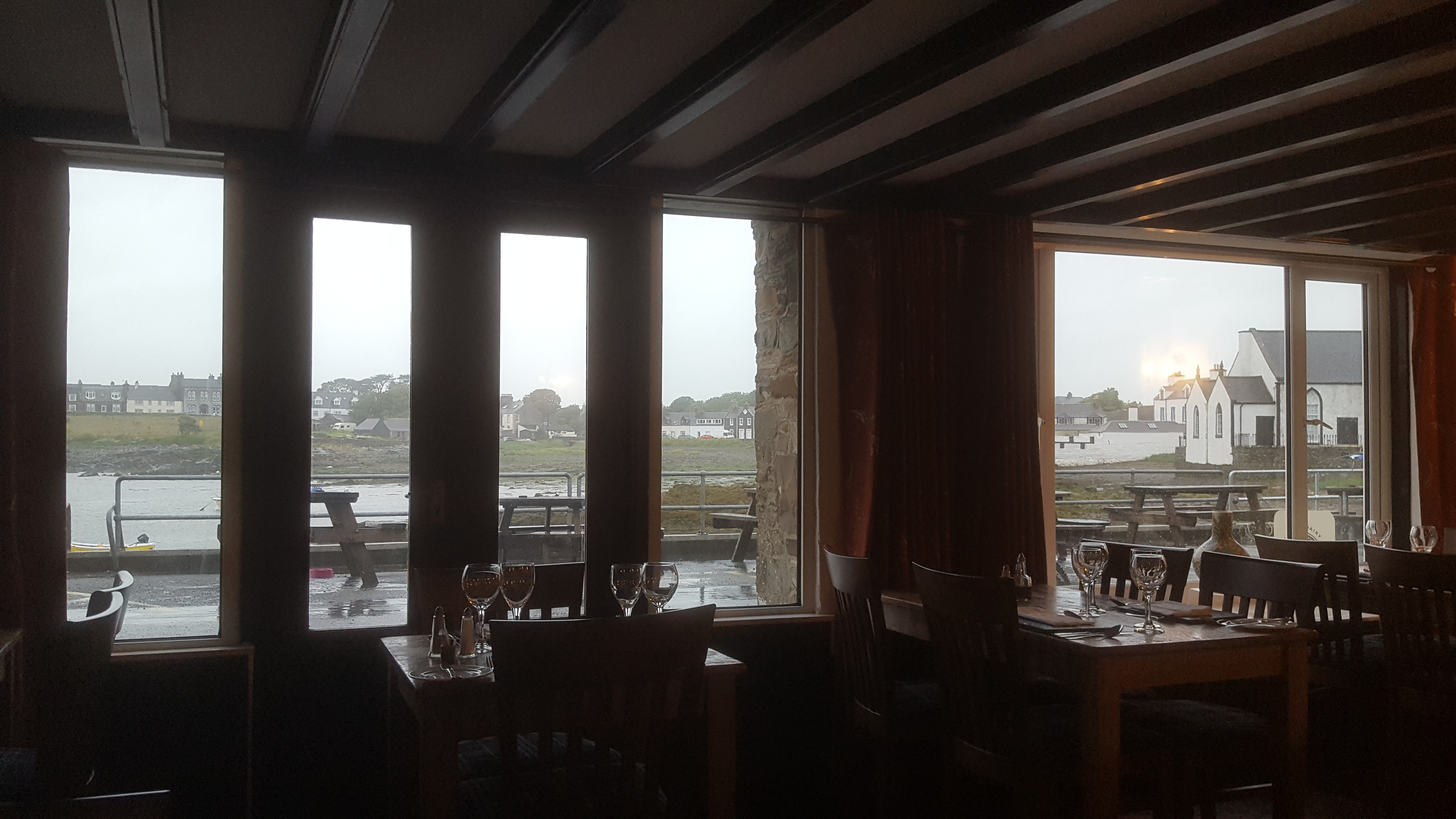 Steampacket Inn view Isle of Whithorn